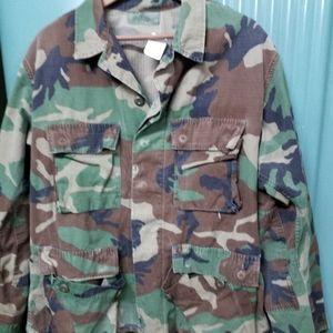 Medium Military Coat Cotton Vintage MilitaryJacket